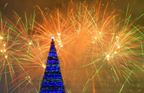 Фейерверк на Новый год и Рождество