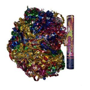 FMHS9830 Пневмохлопушка 30см Цветной фольгированный серпантин