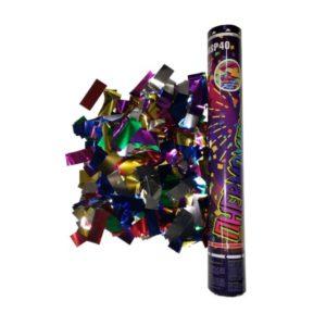 FMSP40 Пневмохлопушка 40 см. Цветное фольгированное конфетти.