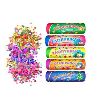 Хлопушка конфетти Новогодний калейдоскоп 5 шт.